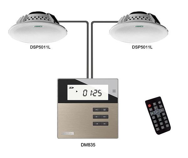 DSPPA DM835S готовый звуковой комплект для организации музыкальной трансляции на небольших объектах.