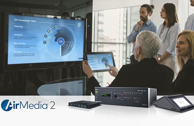 Мы представляем самое быстрое, удобное решение для проведения беспроводных презентаций AirMedia® с новейшими моделями AM-300 и AM-200 от компании CRESTRON.