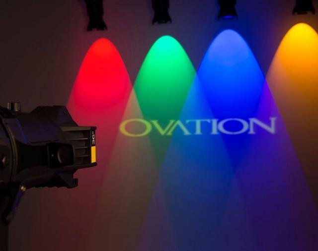 ТОО «Самат шоу техник» представляет полноцветный светодиодный профильный прожектор Ovation E-910FC.