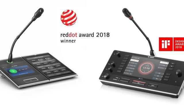 Bosch получил награды за самый лучший дизайн в системе звукового оповещения и линейках конференц-систем