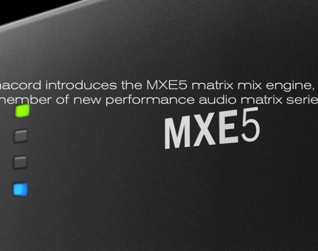 Новинка от Dynacord – матричный микшерный процессор  MX 5