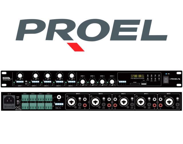 Матрица 4х4 и источник звука в одном устройстве? Proel PA AMIX54Z!