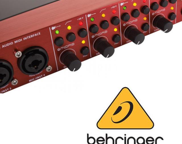 Аудиофильский аудио интерфейс от компании BEHRINGER FCA1616