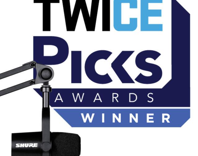 В копилке наших наград пополнение! Микрофон для подкастов MOTIV MV7 получил премию TWICE CES Picks Award