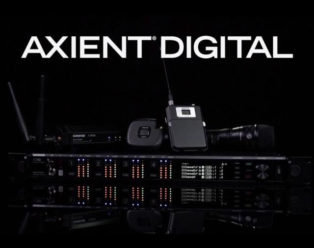 AD4Q Четырехканальный цифровой беспроводной приемник Shure премиум класса