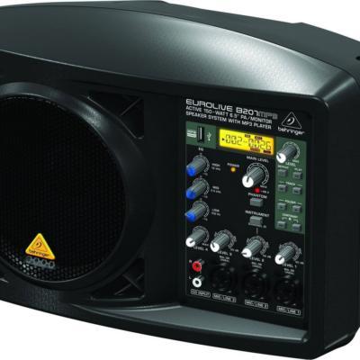 Активная компактная акустическая 150-ваттная система с встроенным усилителем и MP3-плеером EUROLIVE B207MP3