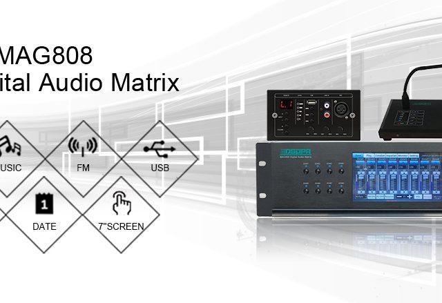 ТОО «Самат шоу техник» представляет новый продукт, аудиоматрица «DSPPA MAG808» в наличии на складе.